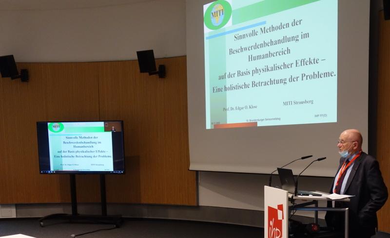 Vortrag des 1. Vorsitzenden des MITI-Vorstandes, Prof. Dr. Edgar O. Klose, im Rahmen des 10. Brandenburger Sensornetztages am IHP – Leibniz-Institut für innovative Mikroelektronik Frankfurt (Oder)